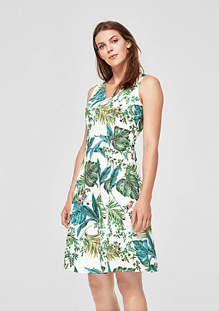 Fit & Flare-Kleid mit Jungle-Print