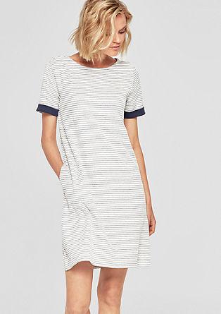Kurzes Kleid mit Two-Tone-Stuktur