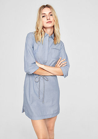 Shirt dress with a woven texture from s.Oliver