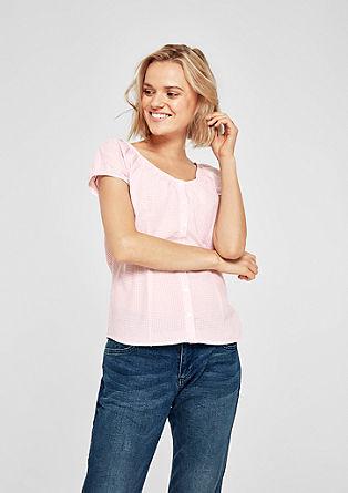 Vrouwelijke blouse met vichyruiten