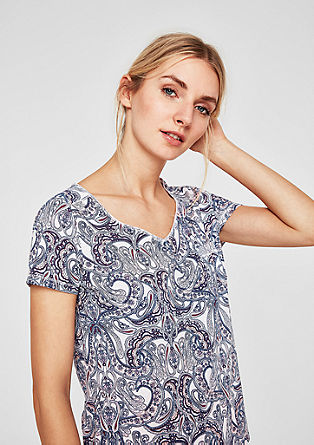 Jersey top with an all-over printed pattern from s.Oliver