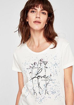 T-shirt à imprimé romantique de s.Oliver