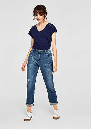 Casual girlfriend: jeans in used look