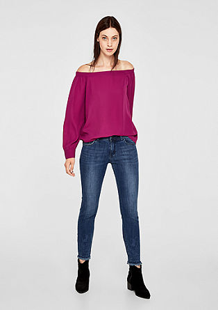 Shape Ankle: Jeans mit Musterwaschung