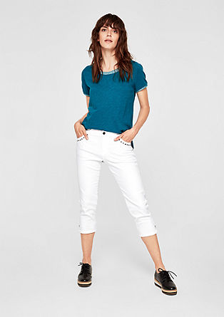 Smart Capri: Jeans with studs from s.Oliver
