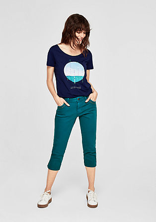 Smart Capri: Coloured Denim