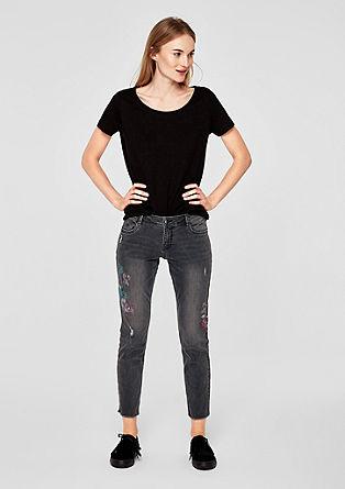 Shape Ankle: Jeans mit Artwork