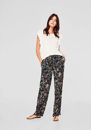 Wide: gebloemde broek