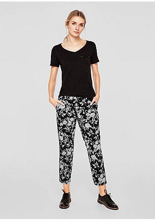 Shape Ankle: Printed cloth trousers from s.Oliver