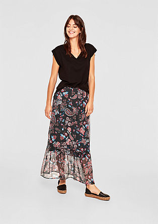 Chiffon skirt with a paisley pattern from s.Oliver