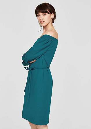 Off Shoulder-Chiffonkleid
