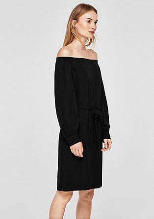 Off-shoulder jurk van chiffon