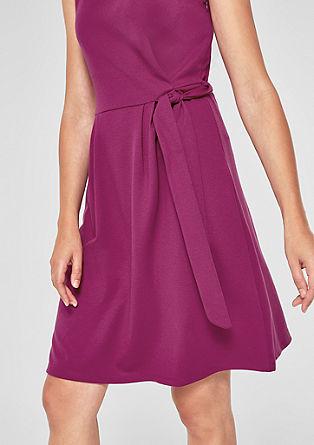 Jerseykleid mit Binde-Detail