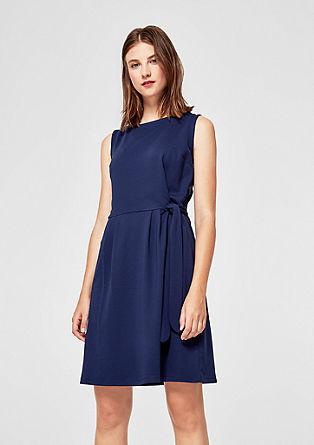 Jersey jurk met bindband als detail