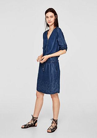 Tunikové šaty zlehkého denimu