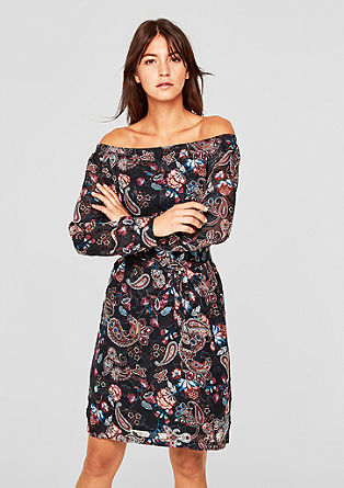 Off-shoulder jacquard jurk