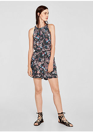 Playsuit with a back neckline from s.Oliver