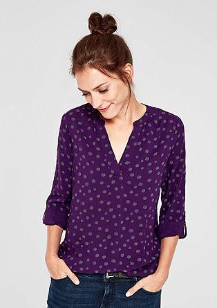 Viscose blouse met motief