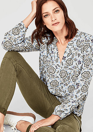 Blouse with all-over printed pattern from s.Oliver