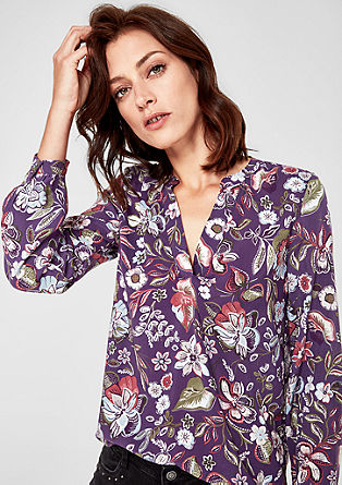 Bluse mit Allover-Musterprint