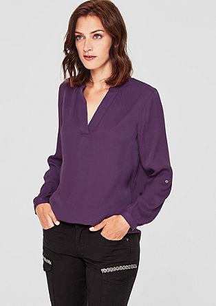 Minimalistische viscose blouse