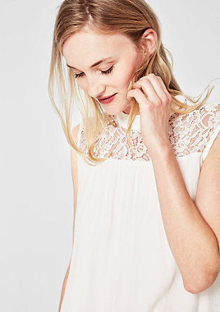 Blouse top with lace from s.Oliver