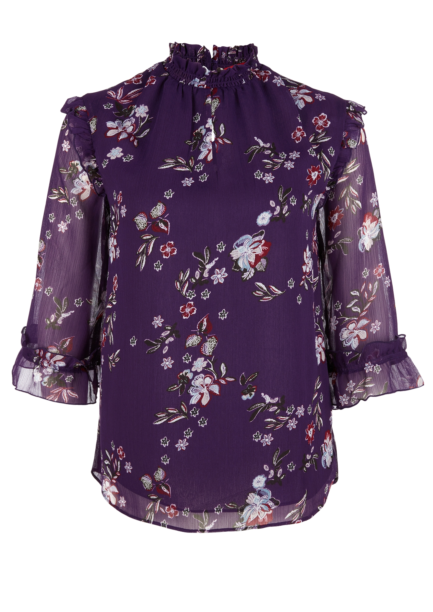 Chiffonbluse | Bekleidung > Blusen > Chiffonblusen | Lila | Obermaterial 100% polyester| futter 100% polyester | s.Oliver