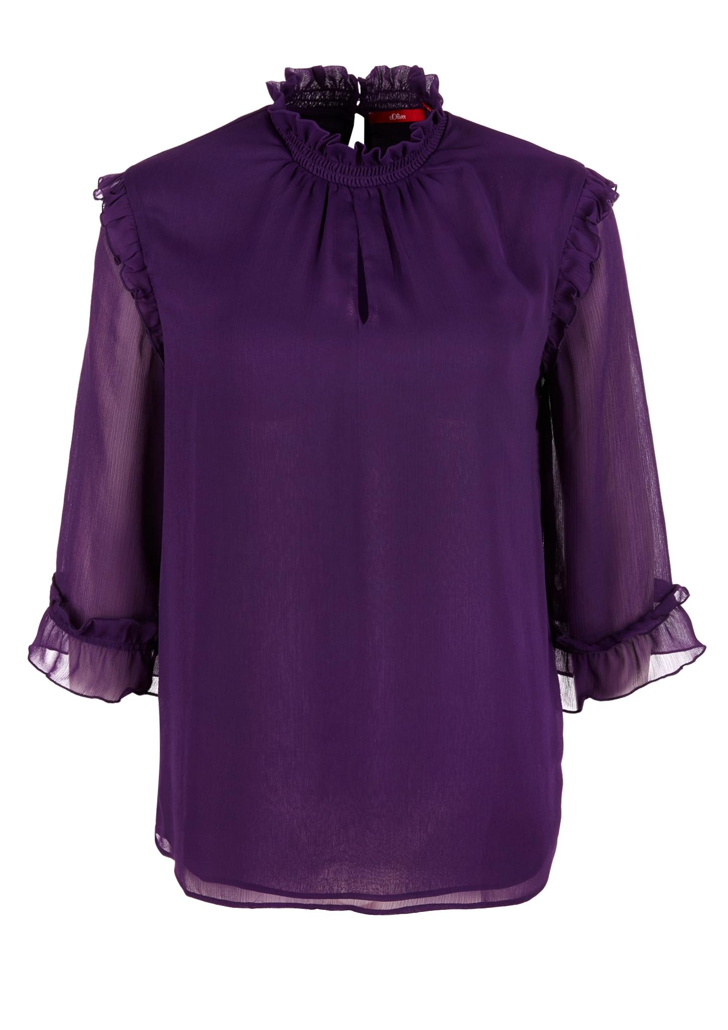 Rüschenbluse   Bekleidung > Blusen > Rüschenblusen   Pink   100% polyester   s.Oliver