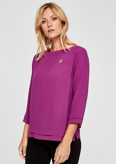 Crêpe blouse met sierdetail
