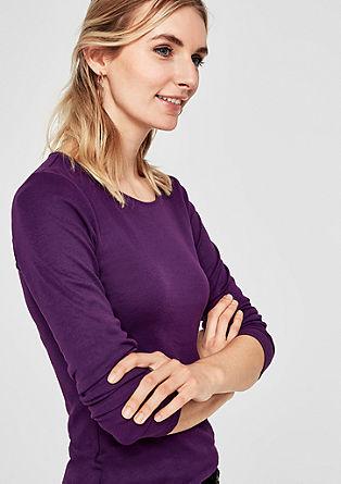Basic tričko sdlouhým rukávem, z bavlny