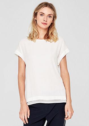 Layer-Shirt mit Stitching-Details