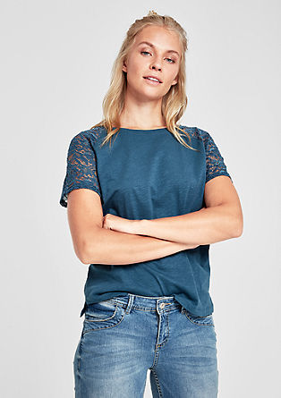 Tričko s průhlednou krajkou