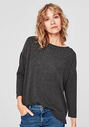 T-shirt chiné orné de strass de s.Oliver