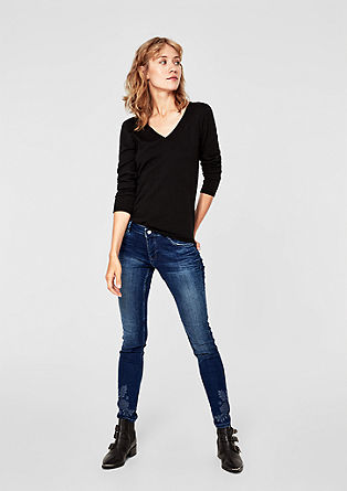 Shape superskinny: jeans met borduursel