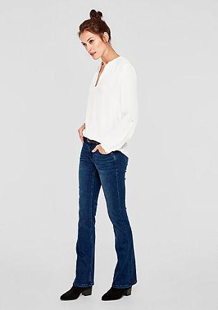 Shape bootcut: jeans met gevlochten riem