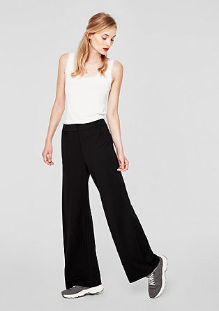 Smart wide: elastische business pantalon