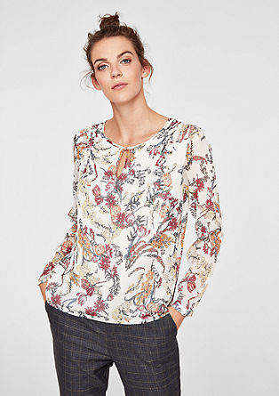 Textured chiffon blouse from s.Oliver