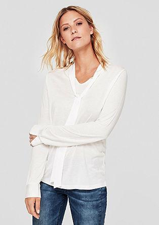 Tričko sdlouhým rukávem avázačkou