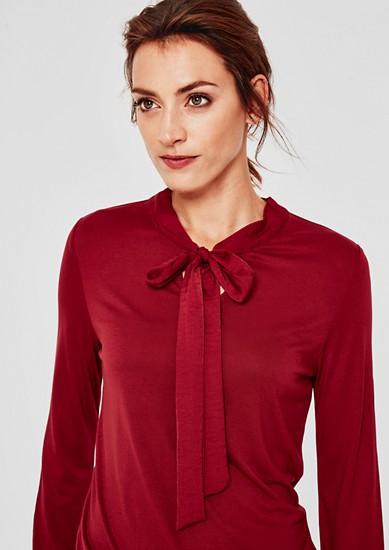 Langarmshirt mit Binde-Detail