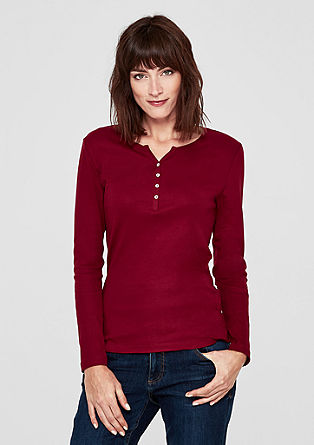 Long sleeve top with a melange finish from s.Oliver