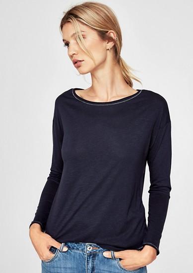 T-shirt à manches longues animé d'une couture décorative de s.Oliver