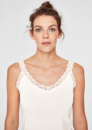 Top with a lace trim from s.Oliver