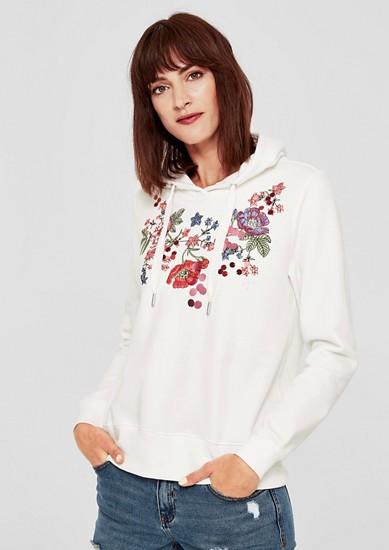 Sweatshirt mit Flower-Artwork