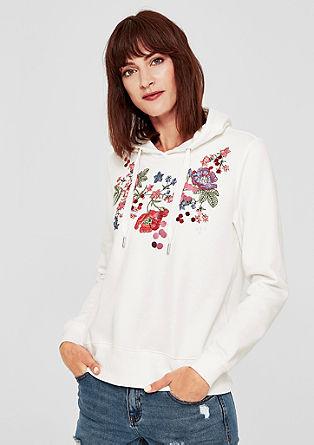 Sweatshirt met flower-artwork