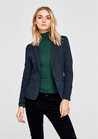 Interlock jersey stretch blazer from s.Oliver
