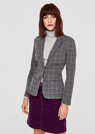 Interlock stretchblazer van jersey