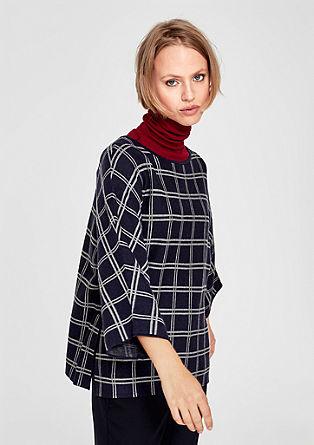 Pullover mit Jacquard-Karomuster