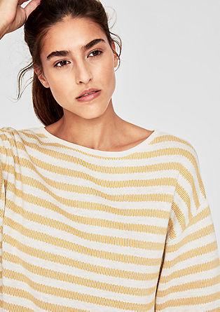 Lockerer Pullover mit Streifenmuster