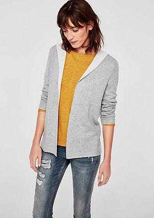 Oboustranný pletený kabátek