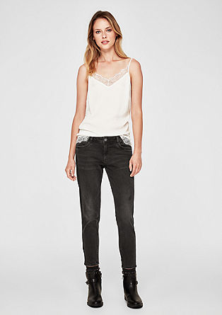 Shape Ankle: grey stretch jeans from s.Oliver